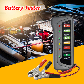 12V Auto Digital Battery Tester Alternator Car Tire Pressure Diagnostic Tools Car Vehicle Accessaries Supplies Parts image