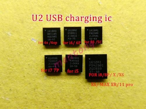 5 قطعة 1610A1 1610A2 1610A3 610A3B 1612A1 1608A1 U2 تريستار شحن ic ل فون 5 5S 6 6p 6s 6sp 7 8 8P X XS/ماكس 11/برو/ماكس