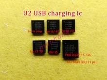 5pcs 1610A1 1610A2 1610A3 610A3B 1612A1 1608A1 U2 Tristar טעינת ic עבור iphone 5 5S 6 6p 6s 6sp 7 8 8P X XS/מקסימום 11/פרו/מקס
