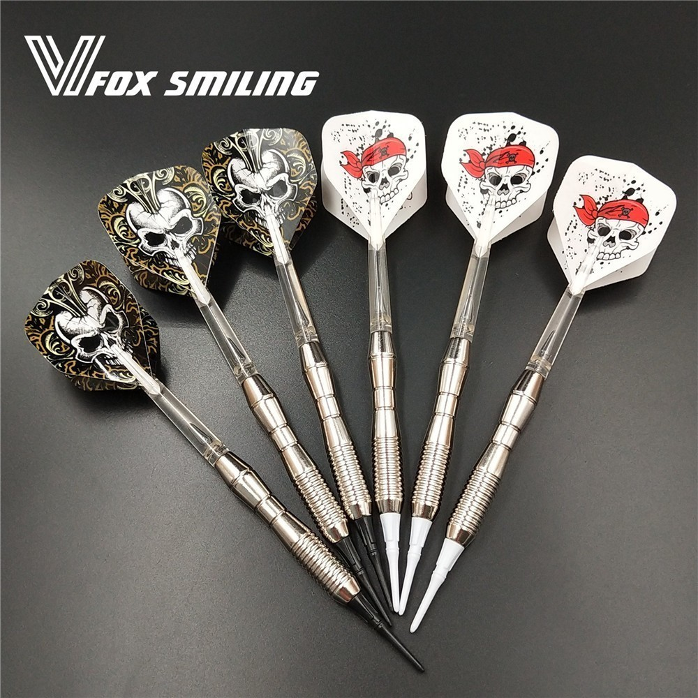 Fox Smiling 3pcs Professional Electronic Soft Tip Darts 17g 146mm Darts With Nylon Alloy Shaft