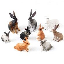 Монтессори Моделирование Изысканный кролик Модель Маленький Размер Экшн Фигурки 9 Стили ПВХ Игрушки Для Детей Малыша Подарки
