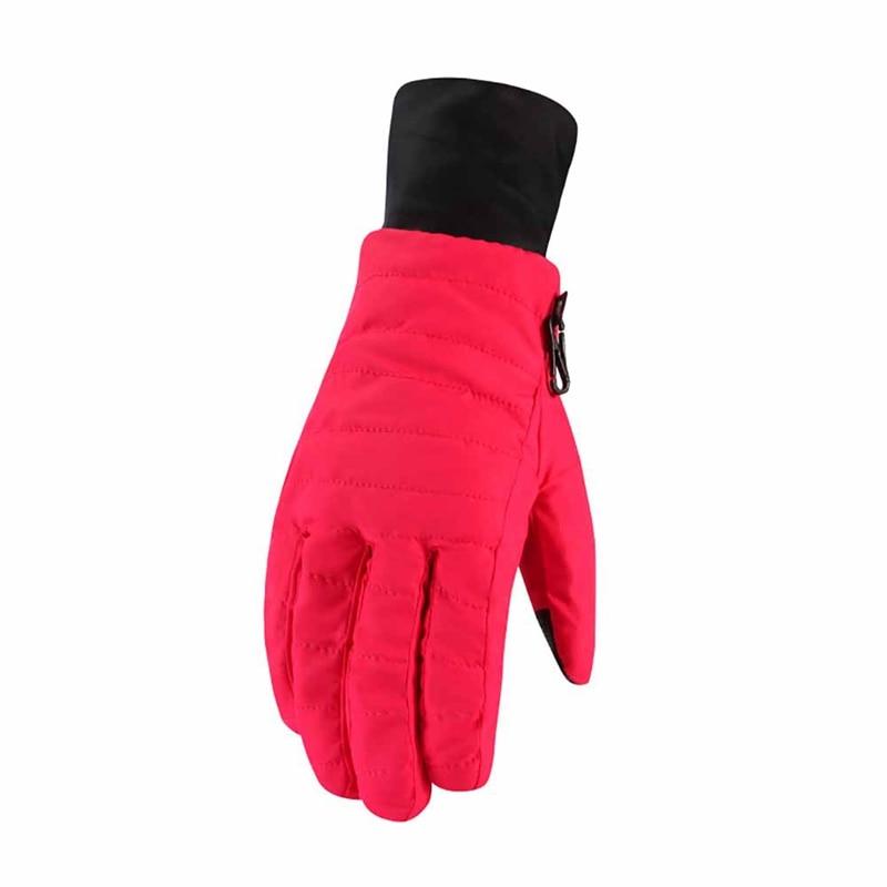 Women's Ski Gloves Full Finger Thickening Warm Riding Gloves Women's Sportswear Bicycle Accessories