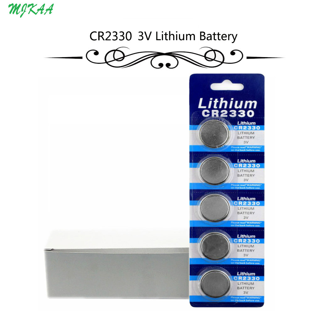 100Pcs=20Card CR2330 Button Batteries BR2330 ECR2330 Cell Coin Lithium Battery 3V CR 2330 For Watch Electronic Toy Remote image