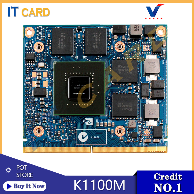 Quadro K1100M K1100 GDDR5 2GB Video Graphics Card N15P-Q1-A2 For Dell M4600 M4700 M4800 HP 8570W 8770W ZBook15 G1/2 100% Test OK