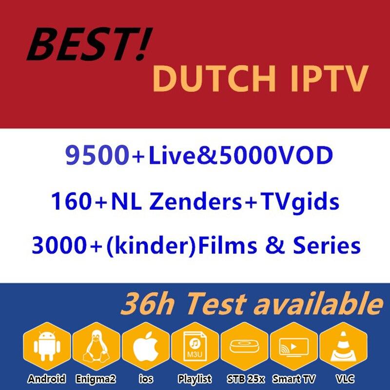 Netherlands Iptv 9500+HD Live Subscription Dutch Europe Nederlands Israel Sweden Holland USA Uk Iptv M3u For Smart Tv Box