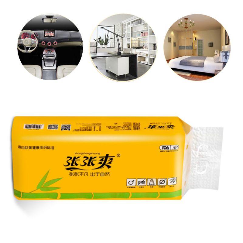 10 Rolls Toilet Paper No Fluorescent Original Bamboo Pulp Paper 4-Ply Sheets