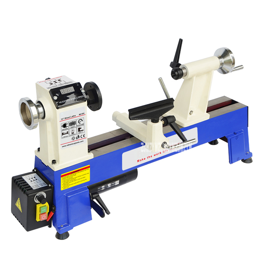 MC1218VD Limitless Transmission Wood Lathe Miniature Bench Lathe Household Stepless Turning Lathe Machine Wood Rotary Machine