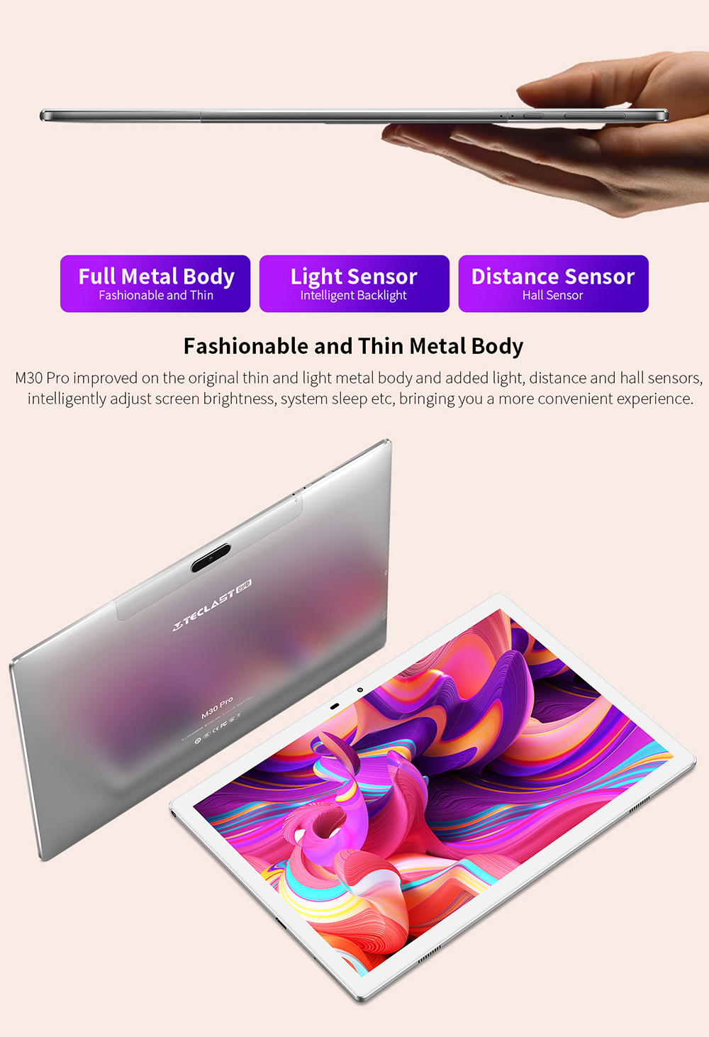 Teclast M30 Pro 10.1 Inch Tablet P60 8 Core 4GB/6GB RAM 128GB ROM Android 10 Tablets PC 1920x1200 IPS 4G Call Dual Wifi Tablette