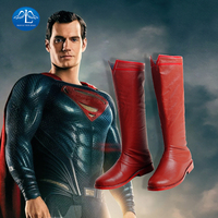 Justice League Superman Clark Kent Cosplay Boots Red Shoes Superhero Halloween Carnival Cosplay Costume Accessories Props Adult