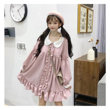 Lace Fungus Lace Embroidery Doll Dress Women's Dresses Japanese Harajuku Ulzzang Female Korean Kawaii Cute Clothing For Women(China)