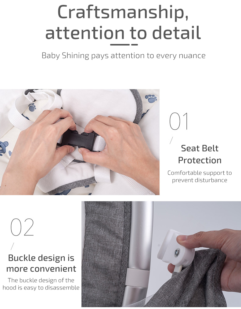 H106c707a007e4342a2e3a83c756d75eey Infant Shining Smart Baby Rocker Electric Baby Cradle Crib Rocking Chair Baby Bouncer Newborn Calm Chair Belt Remote Control