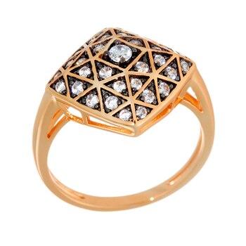 Кольцо из серебра с фианитами R01622