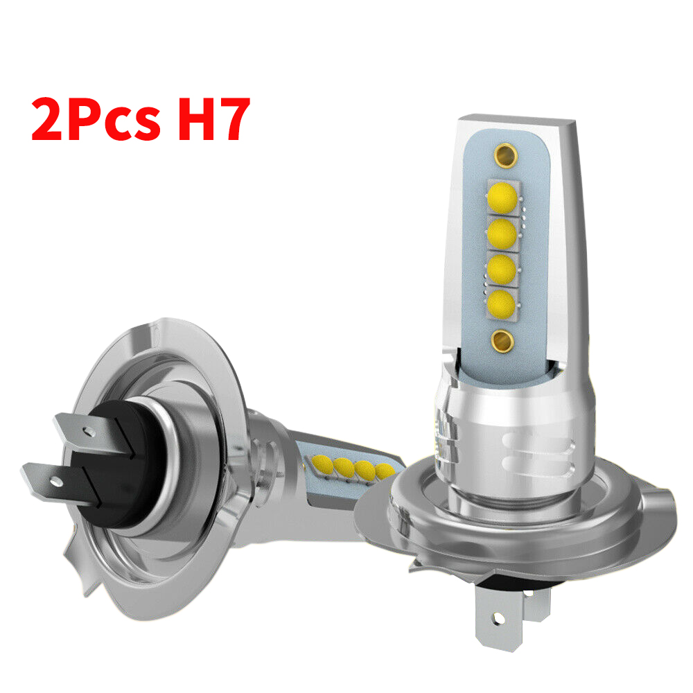 2pcs H7 <font><b>LED</b></font> Bulb 12V <font><b>Led</b></font> H7 55W 6000K Car <font><b>Headlight</b></font> Super Bright <font><b>360</b></font> Degree 3030SMD Mini Automotive Driving Fog Lights Headlamp image