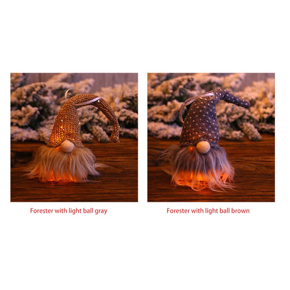 Suspension DEL de Noël éclairage Gnome poupée Pendentif Arbre de Noel Fête Décoration Cadeau