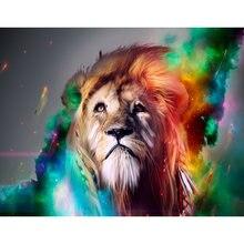 Diy картина по номерам Лев Раскраска Животные 40 х 50 см wall