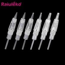 20 agulhas 1d 1r 2r 3r 3f 5r 5f 7r 7f do cartucho da tatuagem do parafuso da substituição dos pces para agulhas elétricas de microblading das ferramentas de mym derma