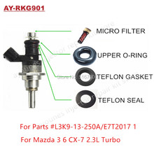 Free Shipping 6Sets For Mazda 3 6 CX-7 2.3 Turbo GDI Fuel Injector Repair Servince Kits For L3K9-13-250A E7T2017 1 For AY-RK901 все цены