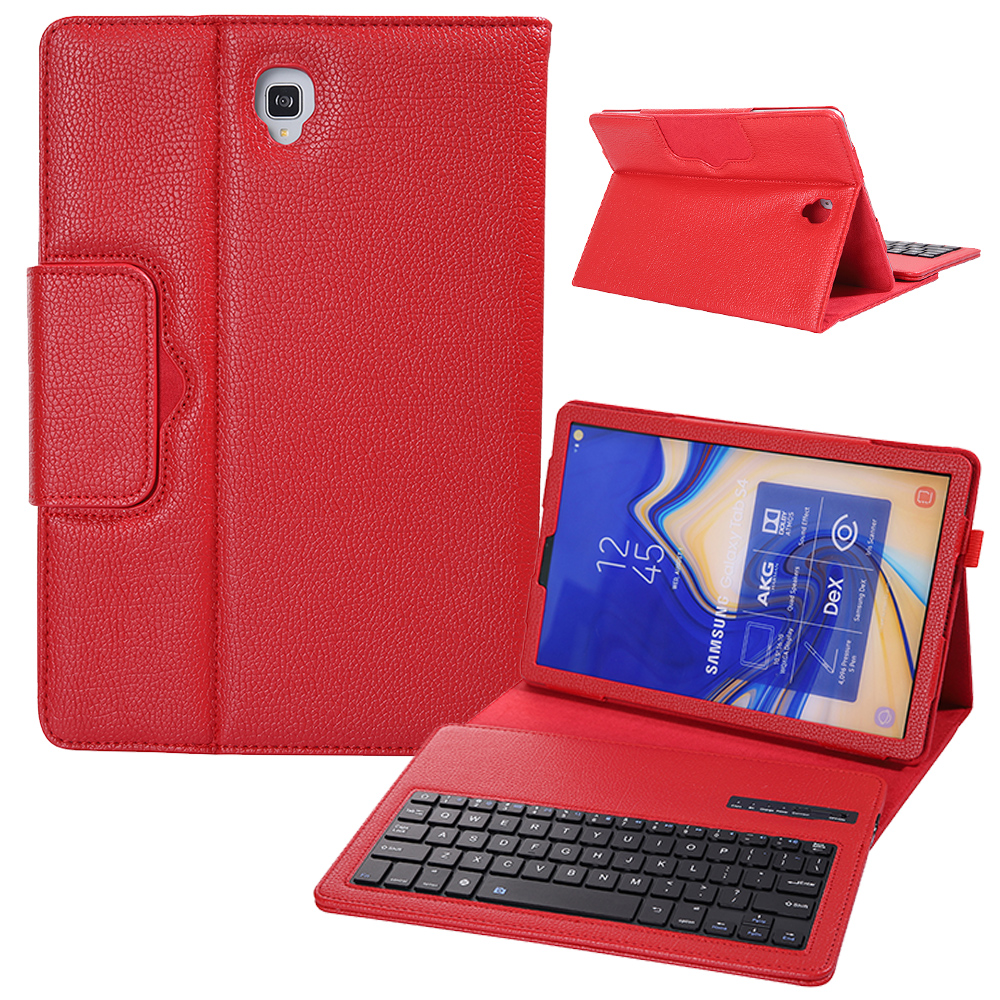 Litchi Pattern Leather Flip Stand Case For Samsung Galaxy <font><b>Tab</b></font> <font><b>S4</b></font> 10.5 inch SM-T830 SM-T835 Case Wireless Bluetooth <font><b>Keyboard</b></font> Case image