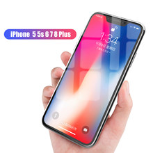 For IPhone XR Tempered Glass Protective Glass On IPhone X XS MAX 5 5 S Screen Protector For 7 6 6s 8 Plus For Iphone Glass Film(China)