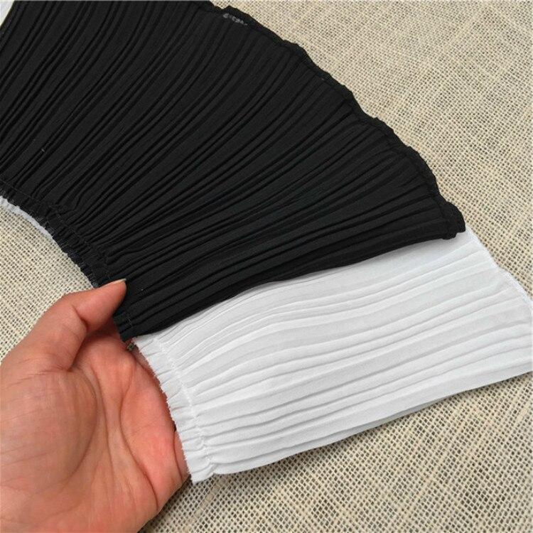 Плиссированная эластичная кружевная ткань, 1 ярд, отделка занавески, 17 см, шифоновый кружевной воротник, лента, отделка, «сделай сам», одежда,...