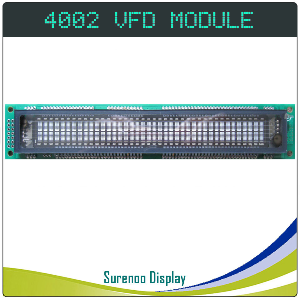 4002 40X2 402 Parallel VFD Display Screen Panel 40T202DA1J Compatible With 4002 Standard LCD Module