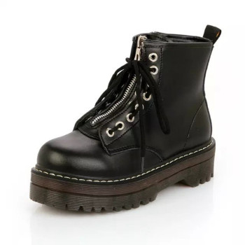 New Women Winter Boots Women Ankle Boots Waterproof Non-Slip Zipper Martin Boots  Ladies Fashion Shoes Black Botas Mujer flat with genuine leather women martin boots winter warm shoes botas feminina female motorcycle ankle fashion boots women botas