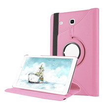 "For Samsung Galaxy Tab E 9.6 Inch Case Cover Tab E 9.6"" T560 T561 SM-T560 SM-T561 2016 Generation Case 360 Degree Rotating Funda(China)"