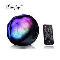 Laiyiqi Ball Diamond Colorful light cassa Bluetooth Speaker LED Pulse Remote Controller Control altavoz mp3 bocinas bt wireless