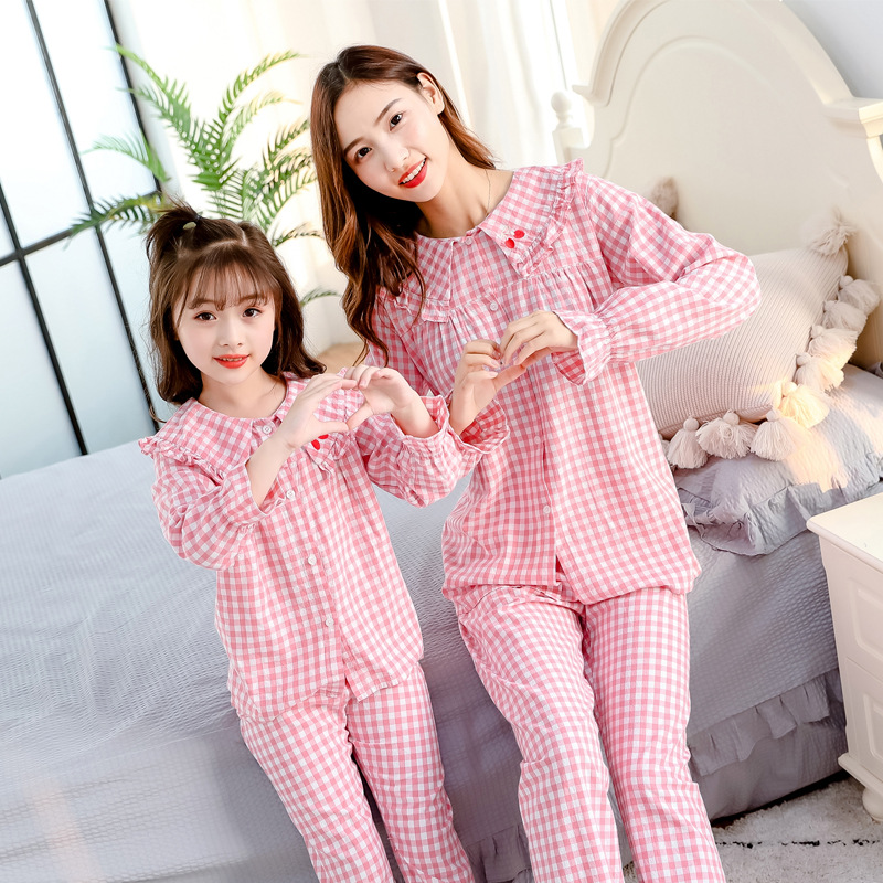 Mom Daughter Matching Outfits Pajamas Hotel Pyjamas Tshirt Matching Family Christmas Sweaters Sets Blouse Mommy and Me Leggings 1