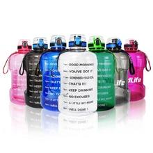 BuildLife 1.3L 2.2L 3.78L Water Bottle With Locking Flip-Flo