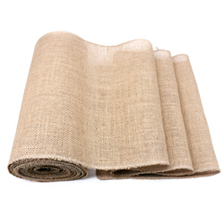 30CMx10M Natural Burlap Retro Table Runners Jute Imitated Linen Tablecloths for Country Outdoor Wedding Christmas Party Decor