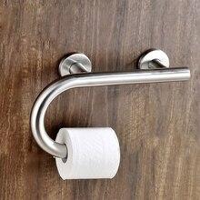 Нержавеющая сталь ванная комната Гандикап пожилых поручень безопасности для ванной душ поддержка Rail ручка держатель туалетной бумаги