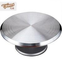 Aluminium Alloy 12 Inch Cake Decorating Turntable with Slip Mat Cake Turntable Rotating Decorating Turntable Baking Tool