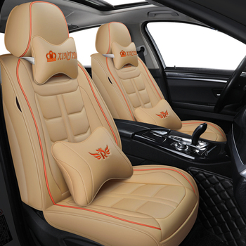 leather black red blue car seat cover For peugeot 301 307 sw 508 sw 308 206 4007 2008 5008 2010 3008 2012 107 206 accessories image