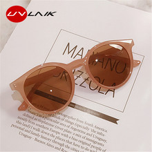 Маленькие круглые солнцезащитные очки UVLAIK, женские модные брендовые дизайнерские Винтажные Солнцезащитные очки, женские зеркальные очки с...