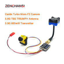 5.8G 40CH FPV video Transmitter 600mW DC 7-24V with Caddx Turbo Micro F2 CMOS 2.1mm 1200TVL FPV camera for RC Playing Drone