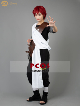 Procosplay handsome Gaara cosplay left forehead caved love Gaara cosplay costume Naruto part 1 Cosplay Costume mp000121
