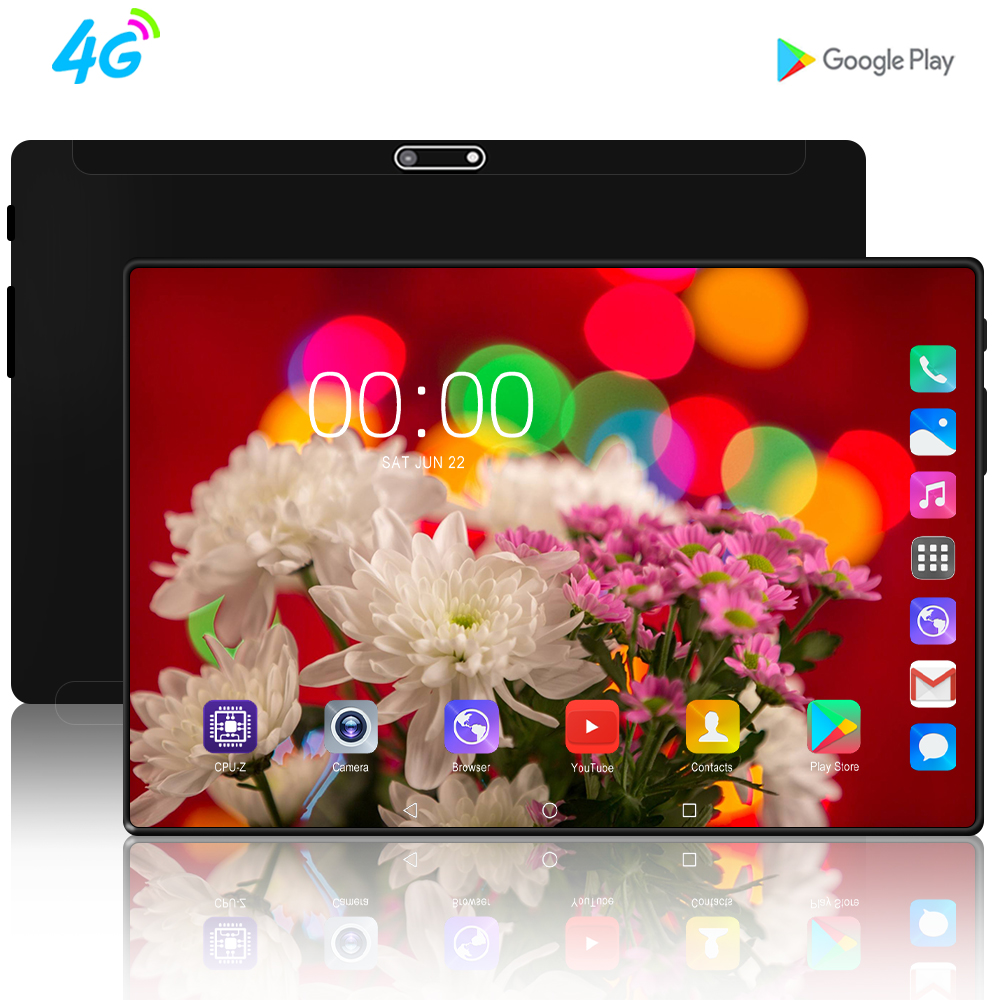 Fast Shipping 10.1 Inch Tablet PC Android 9.0 Octa Core 8GB RAM 128GB ROM 8.0MP Bluetooth Wifi GPS IPS 1920x1200 Tablets 10