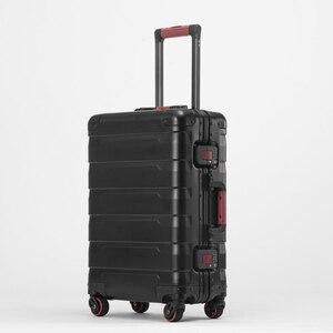 Image 4 - Neue 20/24 zoll retro alle aluminium magnesium legierung gepäck spinner tragen auf internat business trolley koffer mode koffer
