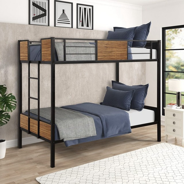 Twin-over-Twin Steel Framed Bunkbed 1