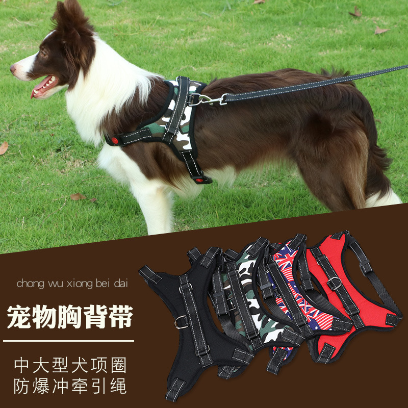 New Style Pet Supplies Hot Selling Medium Large Dog Chest And Back Hand Holding Rope Chest Strap