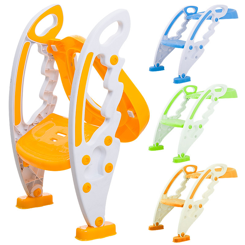 CHILDREN'S Toilet Seat Pedestal Pan Plastic Baby Toilet Portable Closestool Ladder Urinal Folding Toilet Mat Ladder