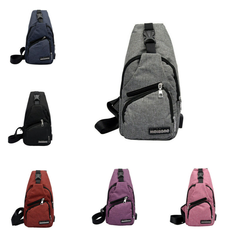 Men Women Sport Casual Sling Bags Chest Shoulder Crossbody Satchel Messenger Bag