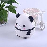 Mole panda ovo brinquedo boneca das crianças bonito e macio dos desenhos animados simulação animal squeeze lento rebote antiestresse brinquedo