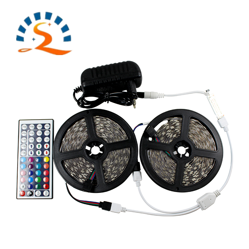2835 5050 RGB LED Light Strip Waterproof 12V Flexible Diode Tape Addressable With Remote Control Ribbon Light