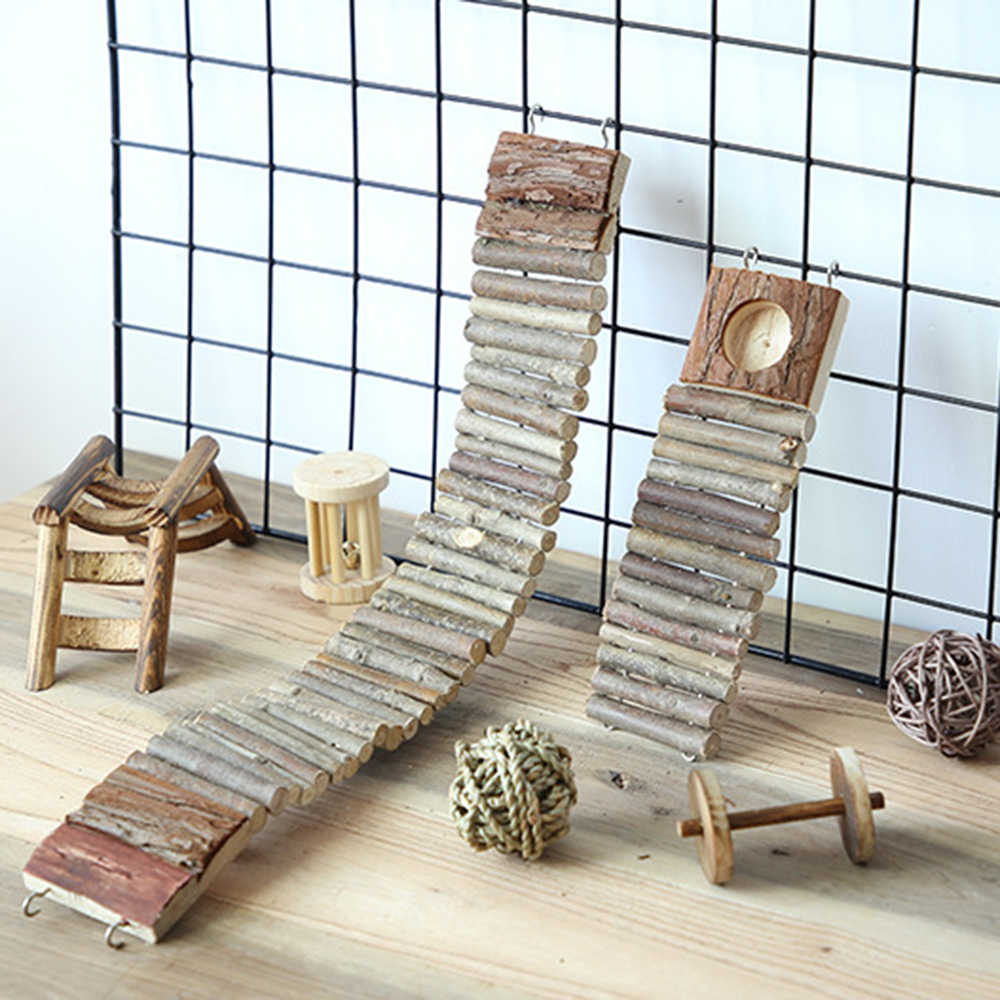 Wooden Chew Toys Ladder for Little Pets hamsters chinchillas Guinea pigs and other small pets wholesale fast sent