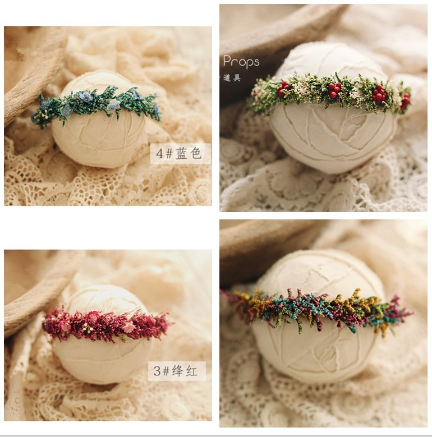 Photography Backgrounds Flower Headband Infantile Party Handmade Newborn Photography Props Christmas Headband Wedding Headband