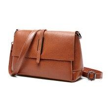 Женская кожаная сумка на одно плечо, Высококачественная мягкая кожаная сумка, модная дизайнерская мини-сумка