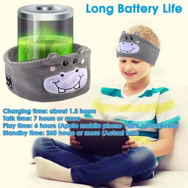 Máscara de sueño con auriculares Bluetooth 5,0 estéreo 4