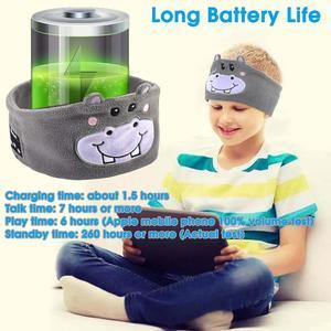 Image 5 - JINSERTA Cute Kid Bluetooth Headphone Sleep Mask Bluetooth 5.0 Stereo Music Player Support Handsfree Soft Headband for Phone